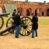 2 of 2 civil war canon demonstration- Fort Pulaski National Monument, GA