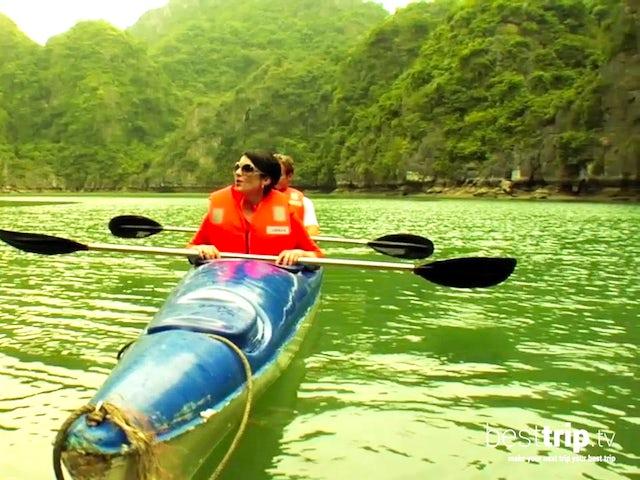 Kayaking Halong Bay, Vietnam