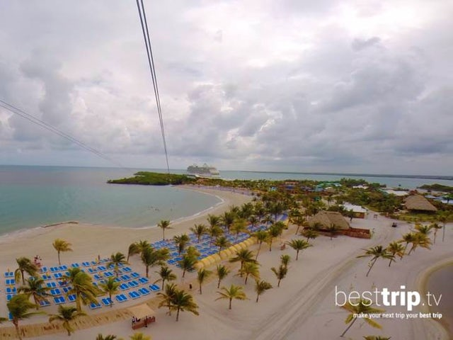 Zipline Over the Ocean On This Cruise Line Private Island