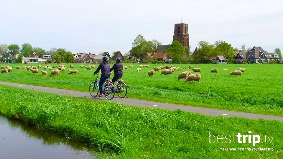 Cycling through the Dutch Countryside on an Avalon Active Shore Excursion