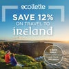 SAVE 12% on travel to Ireland