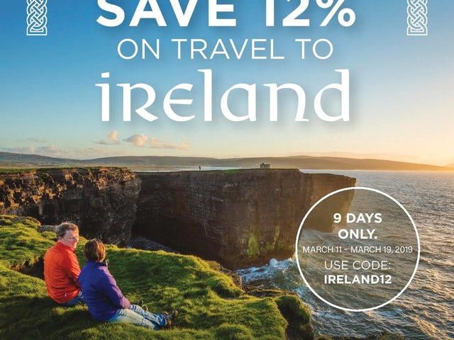 SAVE 12% on travel to Ireland