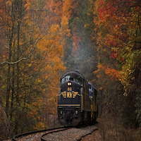 Railroad and Fall Beauty in West Virginia