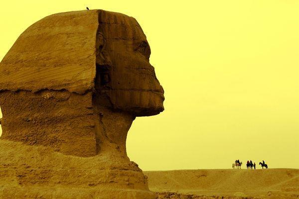 Great sphinx pyramids