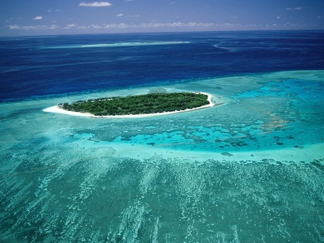 The world's largest coral reef system, Great Barrier Reef