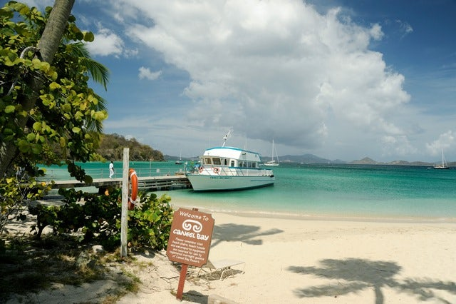 It's swimming time in Caneel Bay
