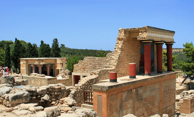 Ancient ruins in The Palace of Knossos