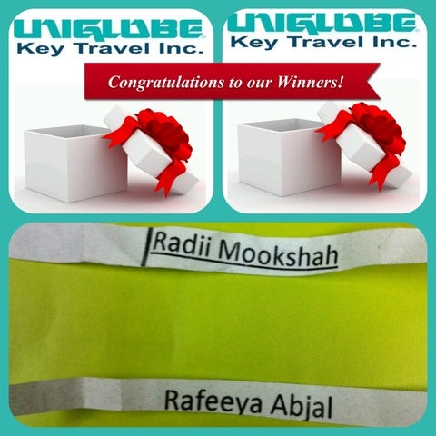 Congratulations to our Facebook Winners!