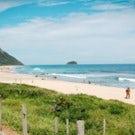 Wonderful stretched beach and surf spot, Grumari Beach