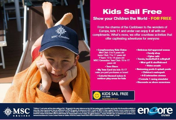 Kids Cruise Free with MSC Cruises