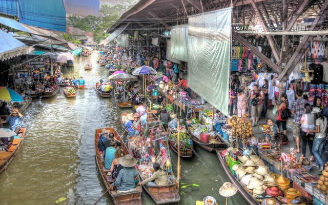 Shop along a Canal at the Damnoen Saduak Floating Market