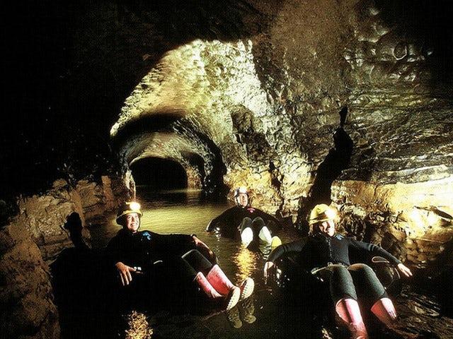 Explore Waitomo Caves on a Tumu Tumu Toobing Adventure