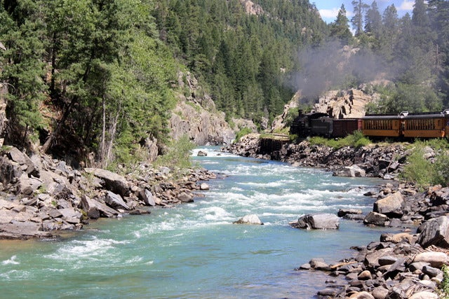 Travel by train on the Durango & Silverton Narrow Gauge Railroad