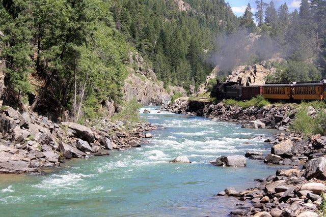 Travel by train on the Durango & Silverton Narrow Gauge Railroad