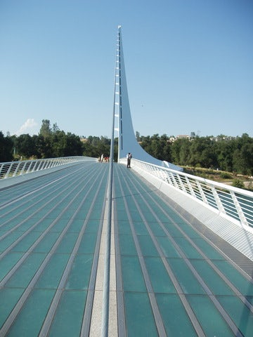 See a beautiful and functional work of art at Sundial Bridge