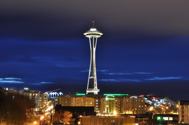 Experience a 360-degree view of Seattle at the Space Needle
