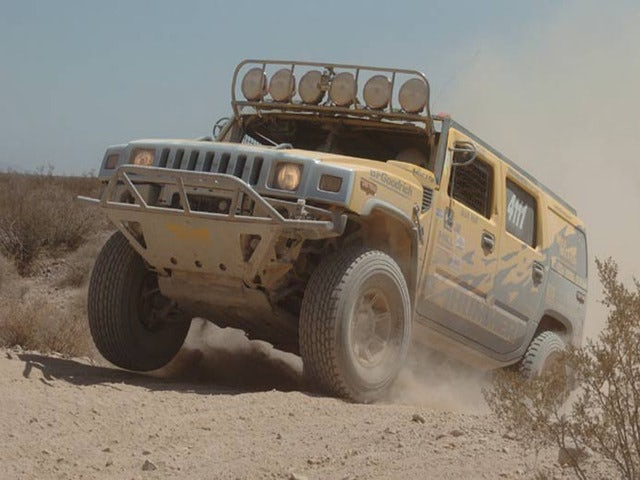 Explore a Ghost Town on a Desert Safari Hummer Adventure Tour