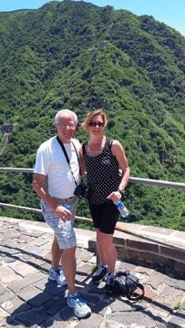 Barb - Brian and Barb climbing The Great Wall - July 2013.jpg