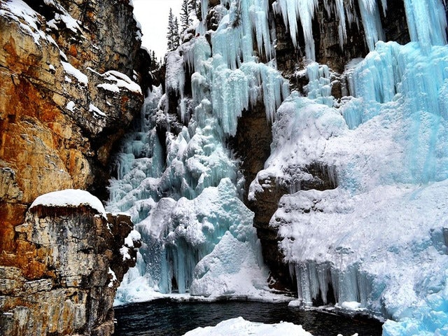 Walk through time in Johnston Canyon, Alberta