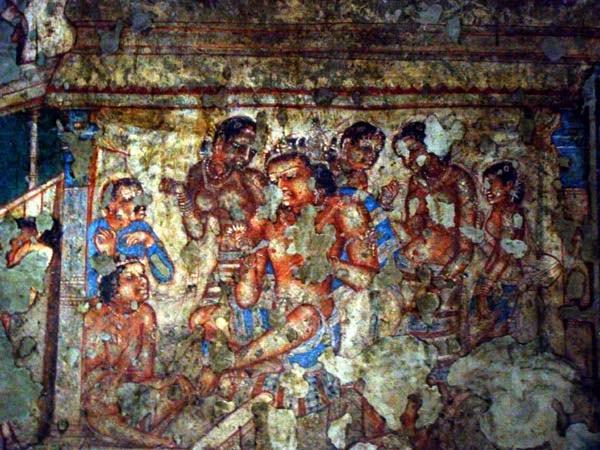 Beautiful paintings at Ajanta