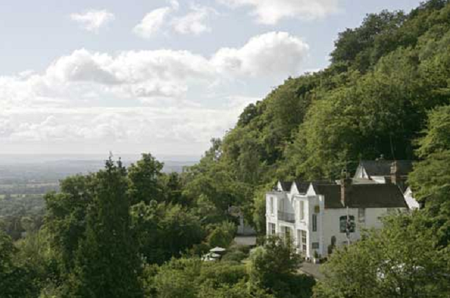 Great Malvern's Natural Beauty By at The Cottage In the Wood Hotel