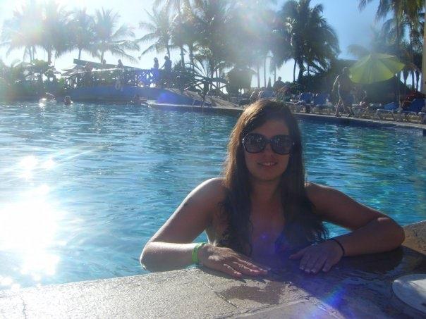 Relaxing at the Resort Pool