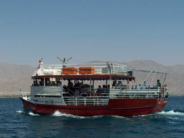 Enjoy the underwater scenery in a glass bottom boat on the  Israel Yam Boat Cruise