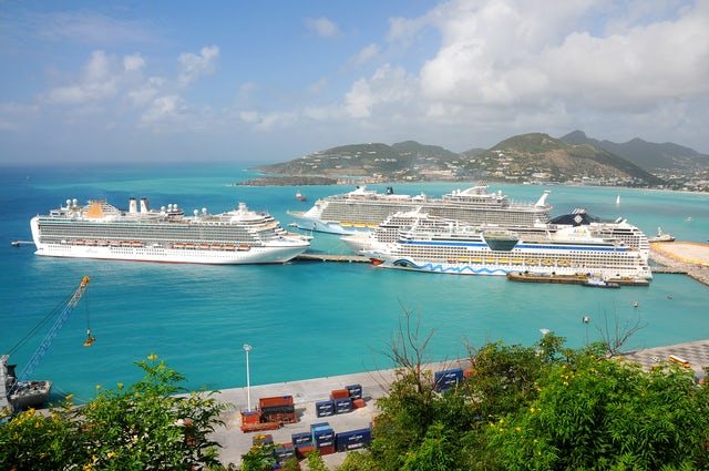 Experience a peaceful, tranquil sunset on a evening cruise in St Maarten