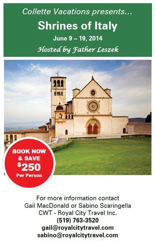 Shrines of Italy Escorted Tour. Visit Some of the Most Fascination Religious Sites and Relics in the World!