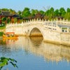 Suzhou gardens, under the blue sky bridges and lakes..jpg