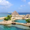 Dolphinarium in Cozumel Mexico with cruise ship in background.jpg