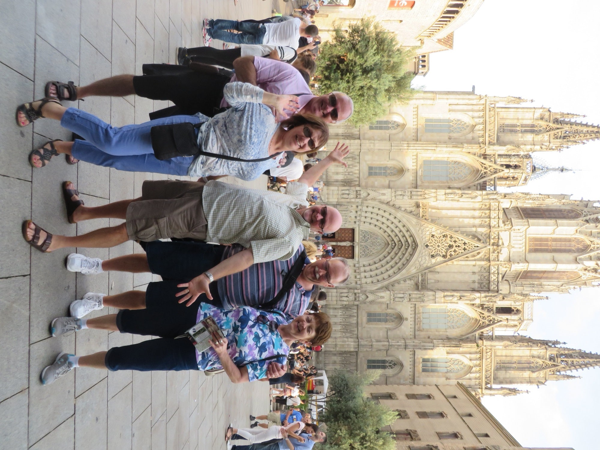 Our Carefree Journeys group in Barcelona, Spain