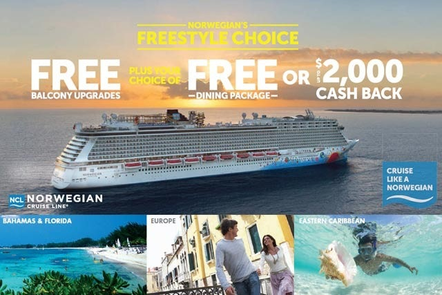 Norwegian Cruise Line Freestyle Choice Sale