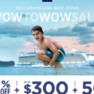 Royal Caribbean Cruise Lines: buy one guest, get one at 50% off
