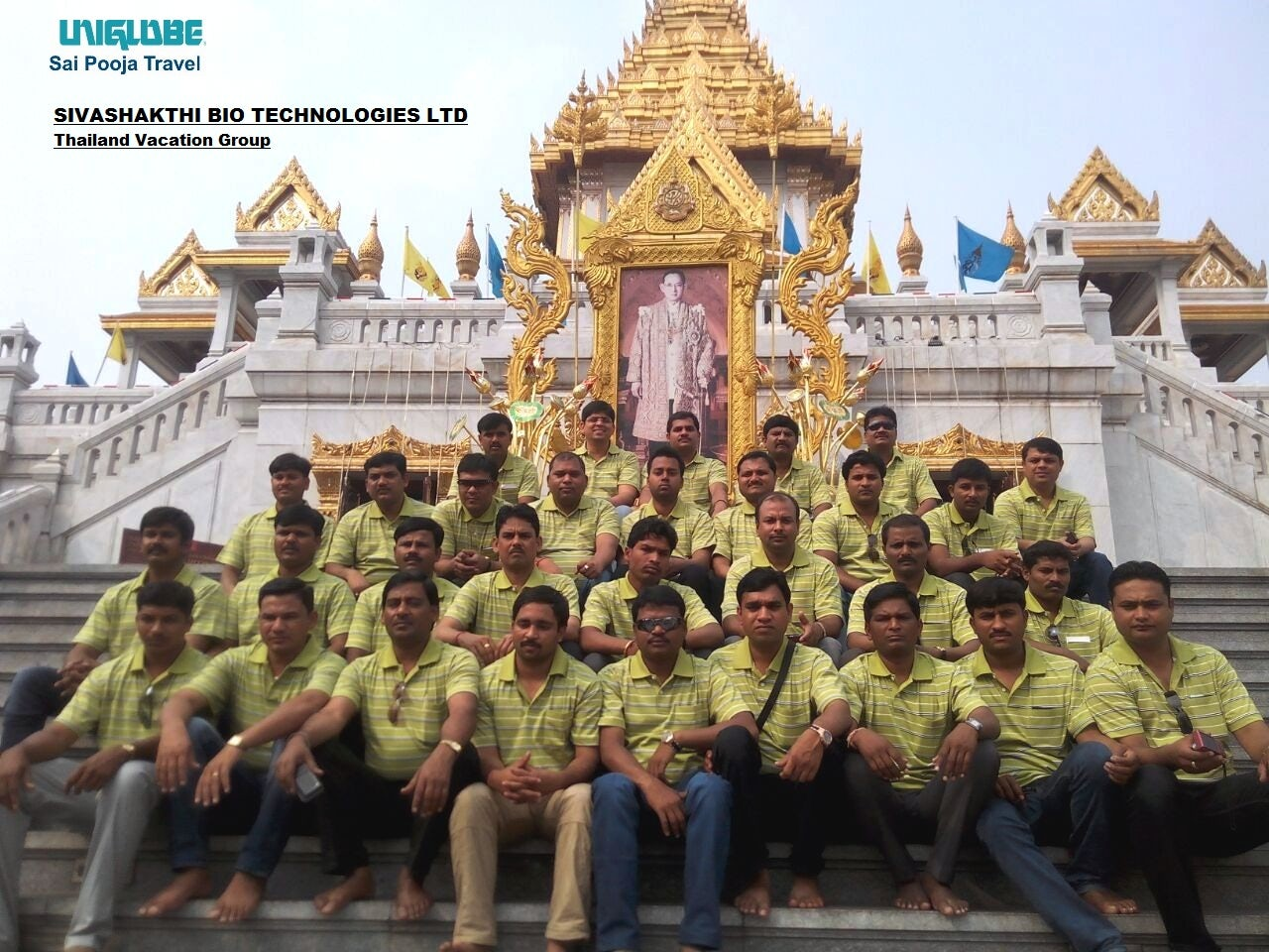 Thailand Vacation Group accommodate by UNIGLOBE Sai Pooja Travel