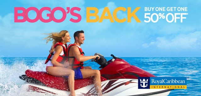 Royal Caribbean's BOGO 50% is Back!