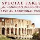 Special Fares for Canadians on Regent Cruises