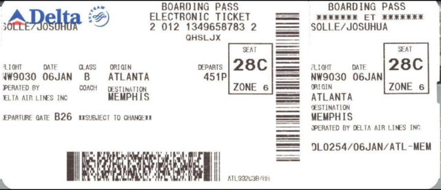 Why you Should not Throw out Your Boarding Pass