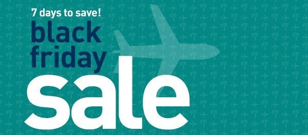 Westjet's Black Friday Sale starts today, lasts a week
