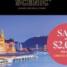 Save up to $2,000 per couple with Scenic Luxury Cruises