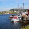 Newfoundland East Coast Village and Fishing Boat with Crab Pots.JPG