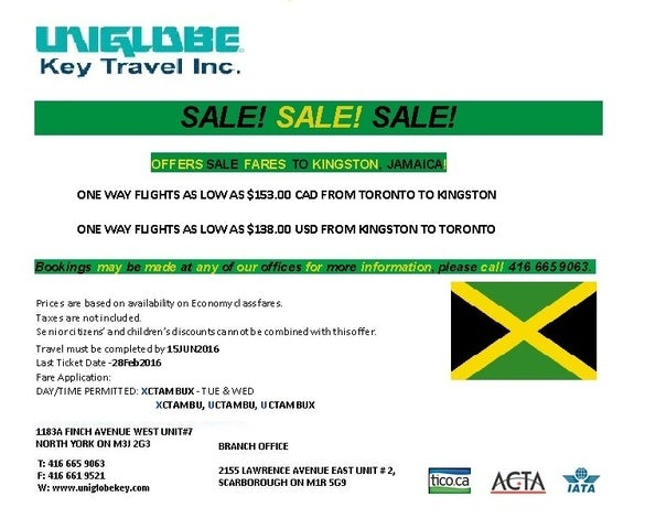 Sale to Kingston, Jamaica!
