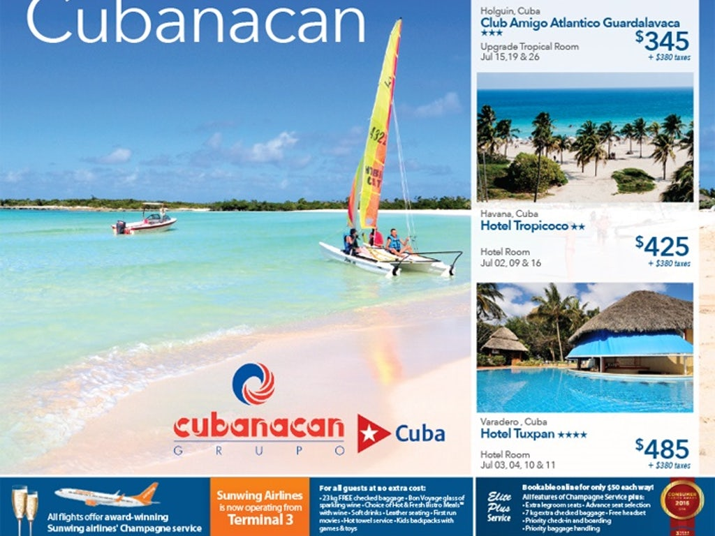 all inclusive cheap vacations to cuba from 345 toronto. Black Bedroom Furniture Sets. Home Design Ideas