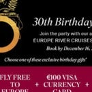 Scenic Cruises is Having a 30th Birthday Party Sale