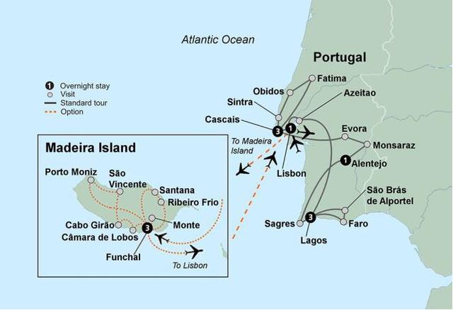 Day 1: Friday, November 3, 2017 Overnight Flight Portugal
