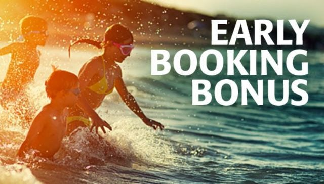 Book early for perks, savings and more!