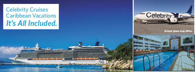 Fly Direct from Hamilton or London with your 2018 Celebrity Caribbean Cruise