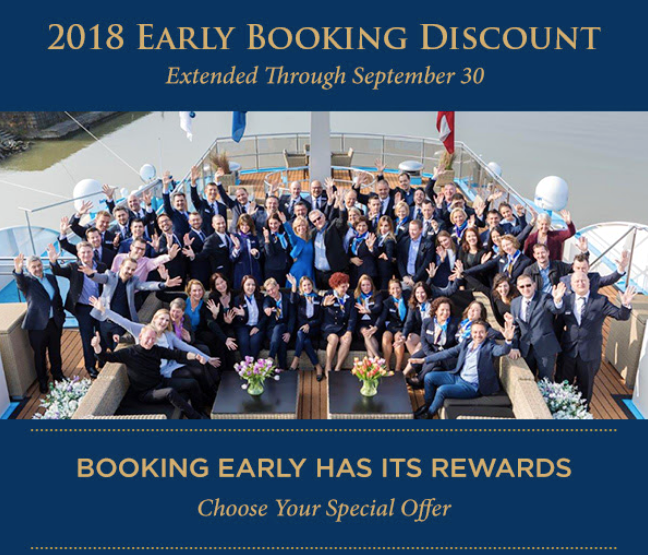 2018 Early Booking Discount on AmaWaterways Extended to September 30