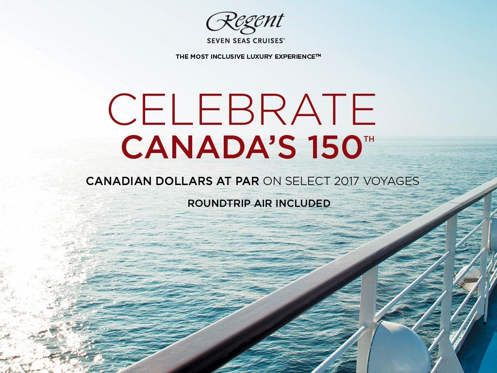 Canadian Dollars At Par On Select Regent Seven Seas Cruises