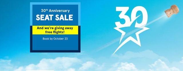 Transat's 30th Anniversary Seat Sale until October 23rd